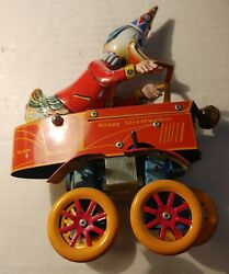 Vintagetucher And Walther Happy Streetwalker Tin Windup Toy 724/ 1000
