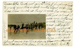 AMAGANSETT LI NY Crowds On Beach For Whale Hunt RPPC POSTCARD East Hampton $44.50