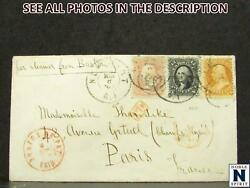 Noblespirit } Us Triple Rate Cover No. 656971 International And Domestic Cancels