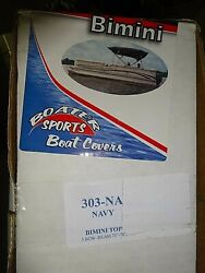 Boaters Sports Bimini Replacment Top P/n 303-na Navy 75 To 78 Inches 3 Bow
