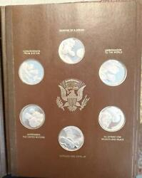 36 Sterling Silver Medals Of Jfk Comm. Album
