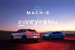 Ford Mach - E Vs Everything Poster 24 X 36 Inch Looks Awesome