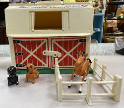 Fisher Price Family Play Farm Little Box Farm House Animals Fence Building 915