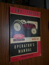 Operators Manual For Model 8 N Ford Tractor Copy Right 1952
