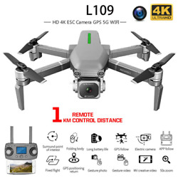 L109 Drone With Gps 4k Hd Camera 5g Wifi Fpv Brushless Motor Foldable Profession