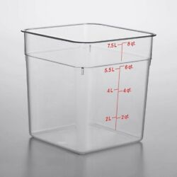 Cambro Food Container 8 Qt 3 Pieces Lot With Lids