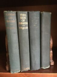 F. Scott Fitzgerald 4 Books3 1st Ed.'s This Side Of Paradise/sad Young Men...