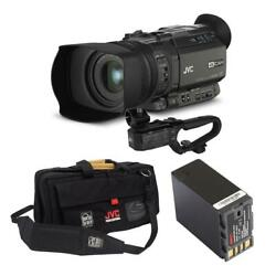 Jvc Gy-hm170 4kcam Professional Camcorder With Jvc Carry Case / Bn-s8823 Battery