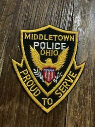 Middletown Ohio Oh Police Shoulder Patch