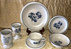 Pfaltzgraff Yorktowne 7 Piece Place Setting 6040710 Lot Of 7 42 Pieces Total