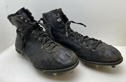 Antique Football Cleats Rugby Leather 9.5 1920's