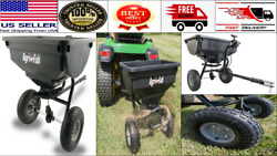 85 Lb Behind Broadcast Spreader Tow Hopper Fertilizer Seed Atv Lawn Tractor Pull