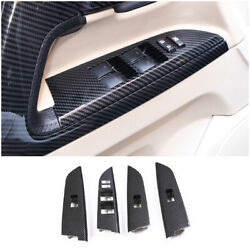 For Toyota Land Cruiser 2008-2021 Carbon Fiber Window Lift Panel Switch Cover