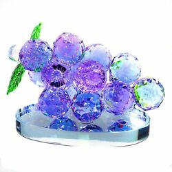 Grape Crystal Figurines Glass Fruit Paperweight Table Ornament Home Wedding