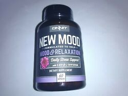 60 Onnit New Mood Relaxation Capsules Stress Support New 5/2022+ Not 30