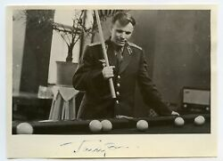Gagarin Signed Photo Autograph Signature Soviet First Man In Space Ussr