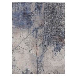 7and03910x10and0392 Softcolors Abstract Design Wool And Silk Hand Knotted Rug R58025