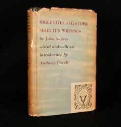 1949 Brief Lives John Aubrey Anthony Powell First Edition Signed