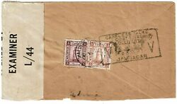 Maldives Islands 1944 Ring Cancel On Cover To India Censored