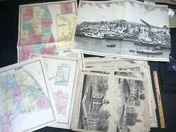 Colored Illustrations Ulster County Ny Large Collection Antique Atlas Map Book