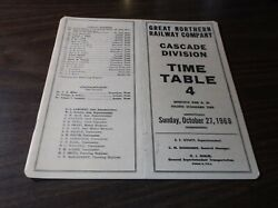 October 1968 Great Northern Cascade Division Employee Timetable 4