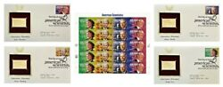2008 American Scientists 41andcent Stamp Sheet And 4 Golden Replicas Fdc Mnh 4224-4227