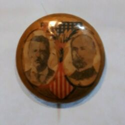 Teddy Roosevelt And Fairbanks Campaign Button Roo 48