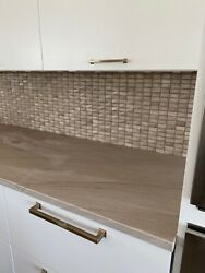 Beautiful Marble Tile, Ideal For A Backsplash. Colors Are White, Taupe, Grey.
