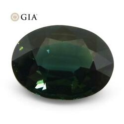 2.82ct Oval Teal Blue Sapphire Gia Certified Thailand Unheated