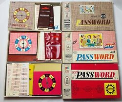 Vintage Password Game Lot Of 3 1962 1963 And 1966 All Used And Near Complete