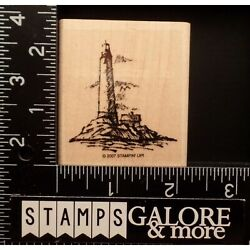 Stampin' Up Rubber Stamps 2007 Winds Of Grace Lighthouse Nautical Ocean Rocks