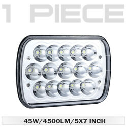 1pc 7x6 6x7inch Rectangle Led Hi-lo Drl Bulb Headlight For Toyota Pickup Truck