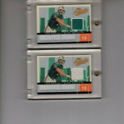 Dan Marino 2 Cards 2002 Fleer Authentix Dolphins Jerseys One Of One + /50