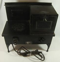 Old Vintage Metal Child's Toy Electric Range Stove And Oven Sears Roebuck And Co.