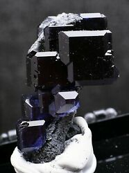 26.5g Natural Purple Fluorite Grow With Crystal Cluster Mineral Specimen