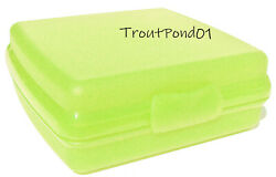 Tupperware Sandwich Keeper Original Style Clasp Parrot Green Storage Container