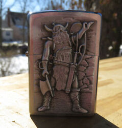 Zippo Conqueror Viking Emblem Lighter New In Box Great Collectable Addition