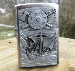 Zippo Collectable Viking Foray Emblem Lighter New In Box