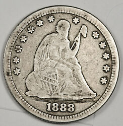1888-s Liberty Seated Quarter. About Fine. 157290