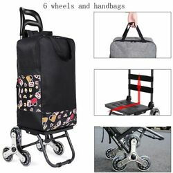Portable Folding Fabric Shopping Cart/bag/trolley With Wheels For Grocery Travel