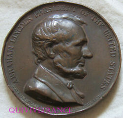 Med11293 - Medal Abraham Lincoln 1965 Abolition Of Slavery By Bovy