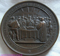 Med6780 - Medal Premier Synode National Of Churches Reformees 1859 By Bovy