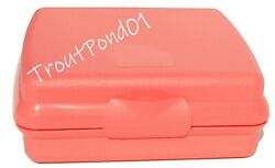 Tupperware Sandwich Keeper Original Style Og Clasp Coral Guava Storage Container