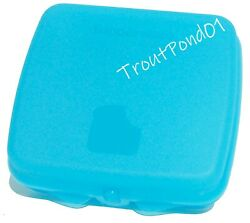 Tupperware Sandwich Keeper Contemporary Clasp Sheer Blue Storage Container