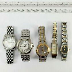 Vintage Ladies Wrist Watches Citizen, Caravelle/bulova, Mk Stainless For Parts