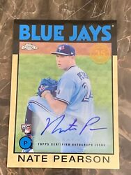 2021 Topps Nate Pearson Superfractor 1/1 Rc Auto - Cz Bluejays - Big Card