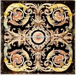 Marble Inlaid Dining Top Table Scagliola Pietradura Work And Free Jewelry Box Gift