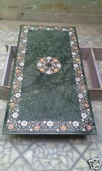 2.5and039x5and039 Marble Dining Table Top Inlay Marquetry Mosaic Art Furniture Decor H1977
