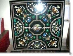 Marble Dining Table Top Malachite Inlaid Stone And Free White Jewelry Box Gift Art