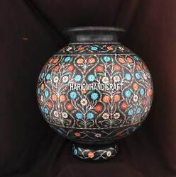 10 Exclusive Marble Flower Pot Unique Marquetry Inlay Interior Real Gifts H3749